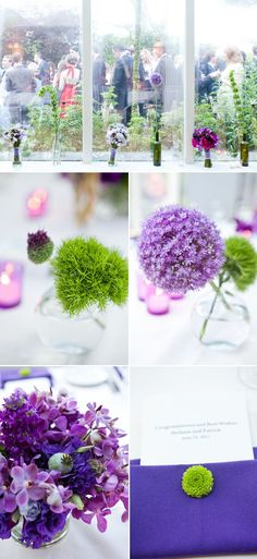 That little green flower on the purple - lovely  --- use yellow instead of purple