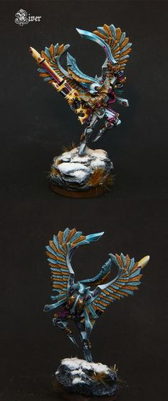 Eldar Baharroth - great highlighting on feathers, also note patterning on under-armor areas