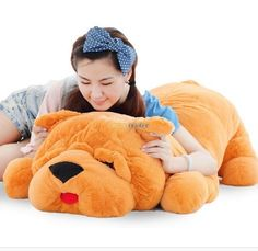 62.10$  Watch now - http://alic80.worldwells.pw/go.php?t=32242313785 - Fancytrader 120cm Super Lovely Jumbo plush Shar Pei Dog Toy,Large Dog Doll Sleeping Pillow Gift for Child Free Shipping FT50048