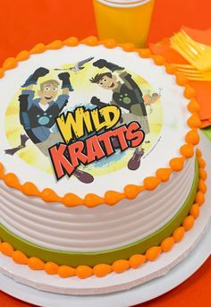 Got Creature Power? This Wild Kratts cake has an edible cake topper that makes it easy to decorate like a pro. The PhotoCake® Edible Cake Image features The Kratt Brothers, Chris and Martin, and they are ready for action. Set off on a cake decorating adventure and make a birthday cake your child will remember.