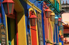Italian immigrant neighborhood of La Boca in Buenos Aires. Photo Colour, House Colors, Travel Photos, The Neighbourhood, Around The Worlds, Places, Wanderlust, Poster, Buenos Aires