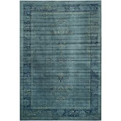 @Overstock.com - Safavieh Vintage Turquoise Viscose Rug (8' x 11'2) - Safavieh's Vintage collection is inspired by timeless designs crafted with the softest viscose available.  http://www.overstock.com/Home-Garden/Safavieh-Vintage-Turquoise-Viscose-Rug-8-x-112/8277897/product.html?CID=214117 $430.99