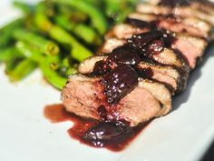 I have to figure out what to do with all this duck meat!  Cherry port sauce over duck!