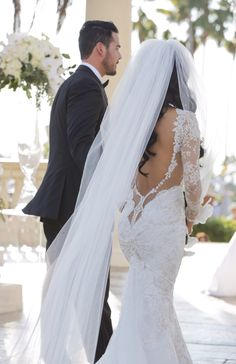 Our bride in Navona gown