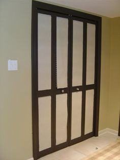 Sliding Mirror Closet Doors Makeover diy mirrored closet door makeover | closet doors, doors and tutorials