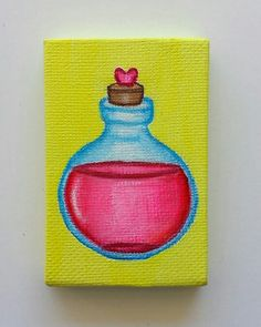 Love Potion Diana Perez Acrylic on Canvas in. Diana, Coin Purse, Canvas, Art, Tela, Art Background, Kunst, Canvases, Performing Arts