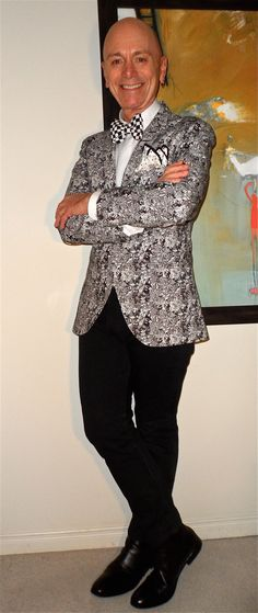 Tiger of Sweden cotton blazer, Ben Sherman shirt, Monica Maria bow-tie