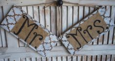 Wooden Love Sign with Burlap by thewoodedlane on Etsy, $25.00