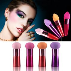 New Facial Makeup Flawless Beauty Cosmetic Puff 3D Oblique Head Sponge Brush Soft Sponge High Quality Y4 S9