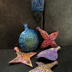 the next bend: Christmas ornaments from the Art Bead Scene Blog hop