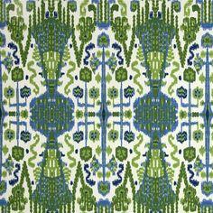 Bombay Kelly Green Ikat Cotton Slub Drapery Fabric - 46770 - Buy Fabrics - Buy Discount Designer Fabrics | BuyFabrics.com