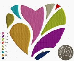 embroidery machine free heart rnrnSource by rosebelgium Embroidery Designs, Embroidery Software, Free Machine Embroidery, Embroidery Hearts, Hand Embroidery, Cross Stitch Heart, Embroidery For Beginners, Punch Needle, Painting & Drawing