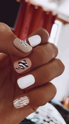 Cute Gel Nails, Funky Nails, Acrylic Nails Coffin Short, Best Acrylic Nails, Stylish Nails, Trendy Nails, Western Nails, Cow Nails, Fire Nails