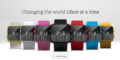 1:Face Charity Watch | Each colored watch donates to a specific charity. Red - Aids, Black Cancer, White - Hunger, etc.