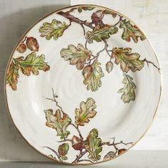 Autumn Oak Dinner Plate