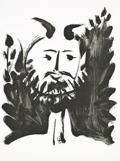 Faune Souriant (Smiling Faun)   Pablo Picasso, Faune Souriant (Smiling Faun) (1948)