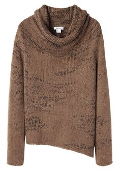 HELMUT LANG Willowed Cord Cowlneck Knit Sweater
