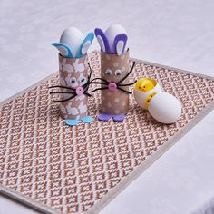 These bunny egg holders are simply adorable! Easter Crafts For Kids, Easter Decor, Egg Photo, Egg Holder, Scrapbook Paper, Bunny, Eggs, Cake, Easter Crafts For Toddlers