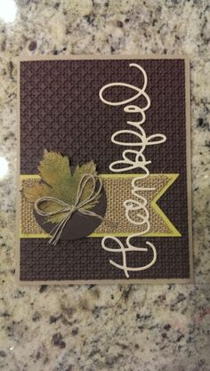 Stampin Up. Thankful card