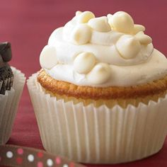 Ghirardelli Baking: Vanilla Cupcakes with White Chocolate Frosting Recipe
