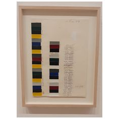 Donald Judd, color samples from RAL, chart and pencil on paper, and cm pic by Moma Collection, Boom Boom, Contemporary Art, Pencil, Nyc, Chart, Paper, Frame, Color