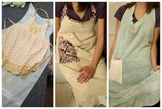 SUPER easy DIY tutorial for a towel apron! Makes it easier to cuddle with them after a nice bath!