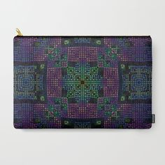 Twilight Mosaic Carry-All Pouch in three sizes from $14 - $24. Get all three for $40 USD.