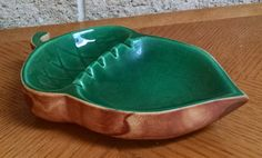 Rocky Mountain Pottery Acorn Ashtray Pine Scented Pottery Dark Green and Brown - Loveland Colorado - Mid Century Vintage by ClassyVintageGlass on Etsy