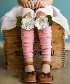 Pink & Cream Wild Rose Leg Warmers by Snugars #zulily #zulilyfinds