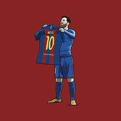 Couldn't not do this.. Messi's game winning goal celebration in the 3-2 win over Madrid.. Should I make this a print? #Messi #ElClasico
