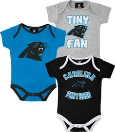 The little one needs to PR the Carolina love too! Carolina Panthers Newborn  Tiny Fan 3 Piece Creeper Set - For the son im going to have 185049ef4