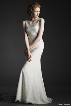 It was love at first sight for us when we saw the Fall 2014 Anais Anette bridal collection. Elegant and romantic, the Wedding Dresses 2014, Bridal Dresses, Prom Dresses, Wedding Gowns, Lace Wedding, Formal Dresses Australia, Formal Dresses Online, Illusion Dress, A Line Gown