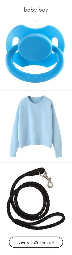 """""""baby boy"""" by lustfulnerves ❤ liked on Polyvore featuring tops, sweaters, blackfive, shirts, sweater pullover, blue shirt, cropped jumper, shirt sweater, cropped sweaters and animals"""