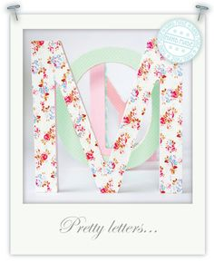 Pretty Letters with washi tape by Torie Jayne