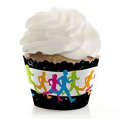 Set The Pace - Running - Track, Cross Country or Marathon Decorations - Party Cupcake Wrappers - Set of 12 | BigDotOfHappiness.com