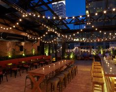 Rooftop at the Refinery Hotel. Beautiful day or night. 12.21.14