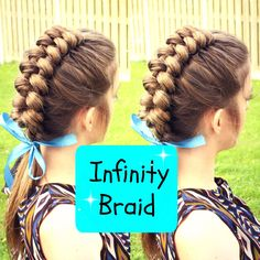 Today& tutorial is how to do a Dutch Infinity braid on yoursel., Frisuren, Hi Everyone! Today& tutorial is how to do a Dutch Infinity braid on yourself . I love how intricate yet how simple this braid is. If you like thi. Pretty Hairstyles, Braided Hairstyles, Up Hairstyles, Hairdos, Updos, Infinity Braid Hair, Natural Hair Styles, Long Hair Styles, Looks Cool