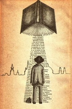 Take Me To Your Reader- art print by Jon Turner- surreal literary pen and ink artwork I Love Books, Good Books, Books To Read, Photo Facebook, Illustration, World Of Books, Bibliophile, Book Worms, Book Lovers