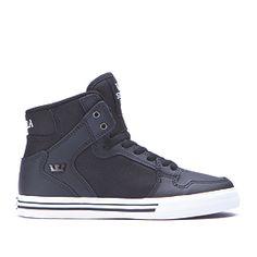 KIDS VAIDER in BLACK - WHITE | SUPRA Footwear