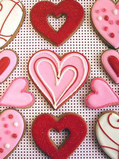 eleni's new york - decorative heart cookies