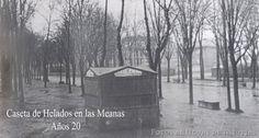 Caseta de Helados en las Meanas Avilés - Año:1920 ~ Asturianos en el Pasado