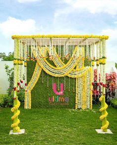 New wedding decorations stage floral arrangements Ideas Desi Wedding Decor, Wedding Hall Decorations, Marriage Decoration, Engagement Decorations, Wedding Mandap, Backdrop Decorations, Backdrops, Wedding Entrance, Wedding Ceremony