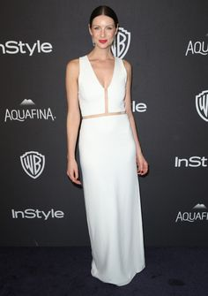 Catriona Balfe at the In Style/Warner Brother Golden Globes After Party.