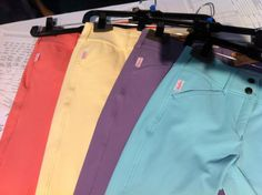Look at all these bright colored breeches... Just for kiddies though. Wish I could still ride ponies!