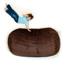 Corda Roy's Double King Size Convertible Foam Bean Bag Bed in Micro Suede