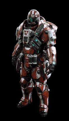 Concepted, modelled, rigged and textured armour for the 3 classes. All share a single 2048 texture set with tint masks. Armor Concept, Concept Art, Arte Robot, Combat Armor, Suit Of Armor, Body Armor, Futuristic Armour, Sci Fi Armor, Future Soldier
