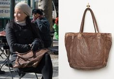 Elementary Season 2, episode 19: Click to find out who made Joan Watson's brown leather, perforated tote bag purse #elementary #joanwatson