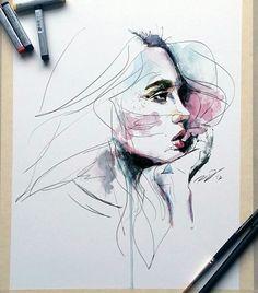 """2,043 Me gusta, 50 comentarios - Robert Dean (@robertdean.art) en Instagram: """"Sketch in ink and watercolor."""""""