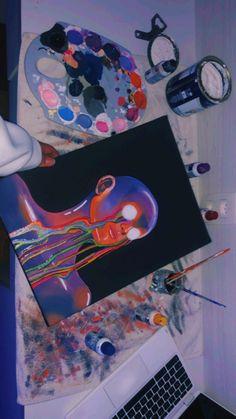 Black Art Painting, Hippie Painting, Trippy Painting, Art Painting Gallery, Small Canvas Paintings, Easy Canvas Art, Small Canvas Art, Mini Canvas Art, Posca Art