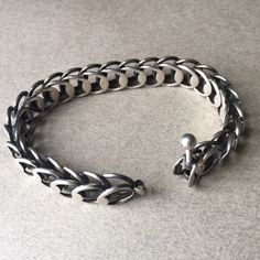 Hans Hansen Sterling Silver Modernist Bracelet, Handmade Sterling Silver - Gallery 925
